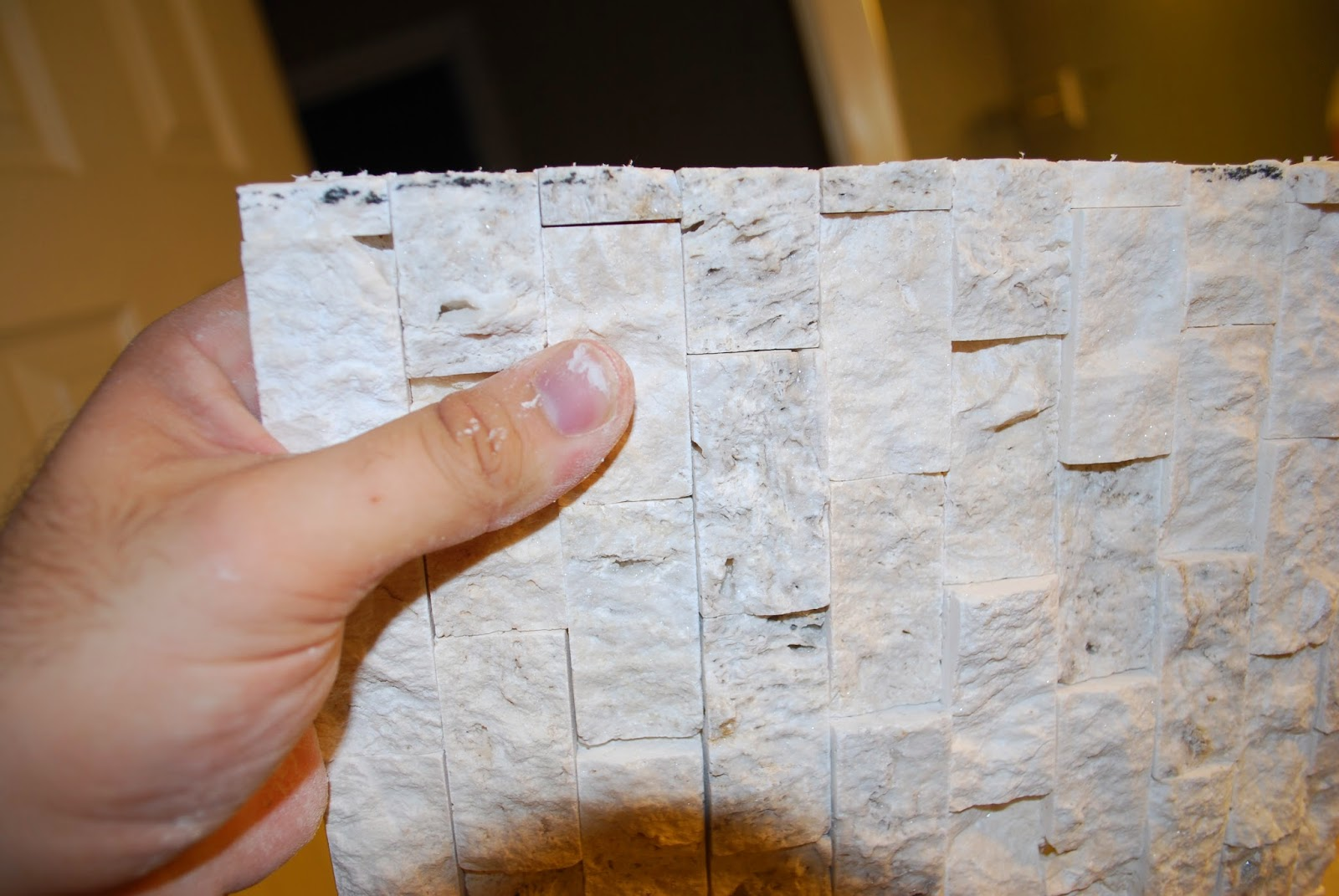 cut stacked stone tile for shower