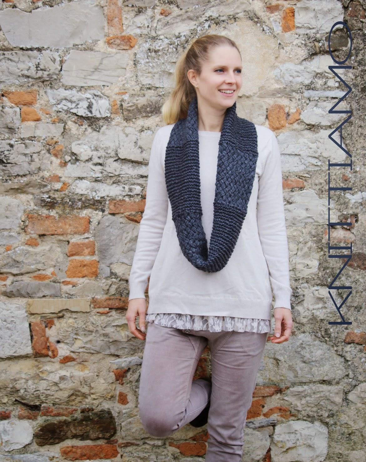 sciarpa a maglia schema