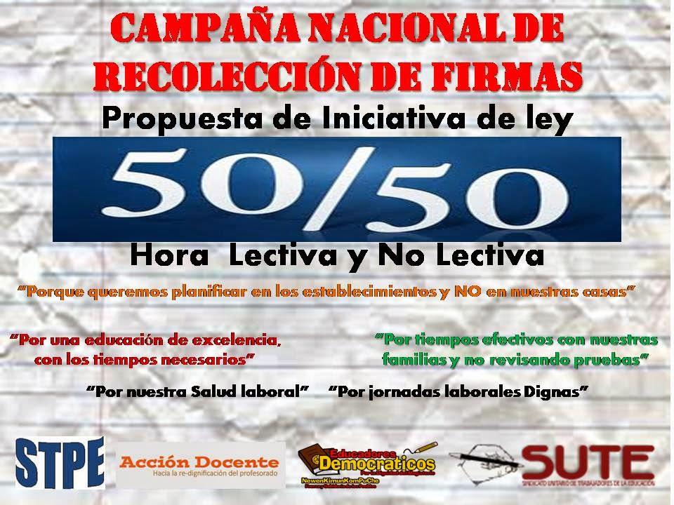 Campaña de Firmas por el 50/50