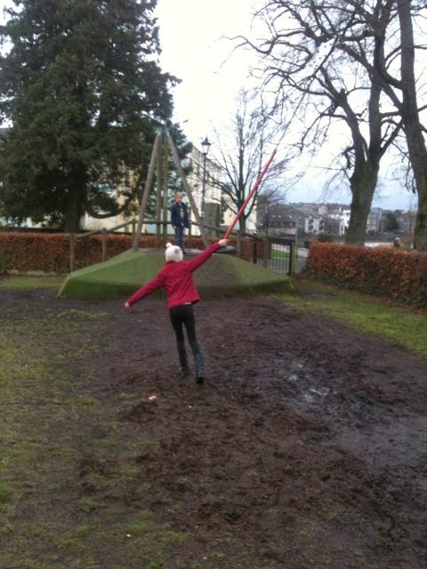 muddy zip wire