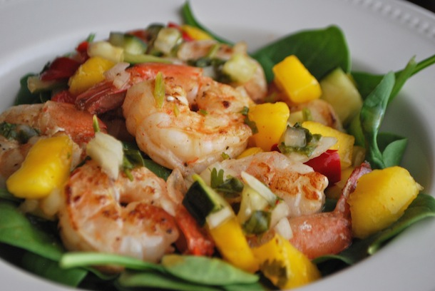 Pan-Seared Shrimp with Mango, Cucumber & Peppadew Salsa - Always Order ...