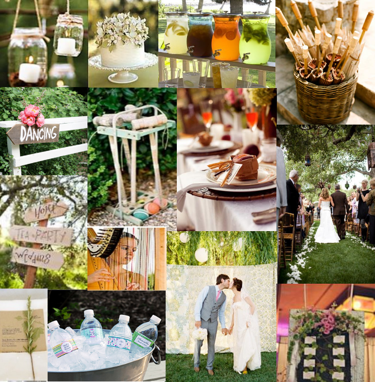 backyard bbq reception inspiration help reception
