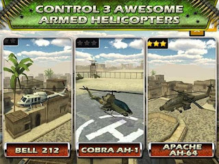 Screenshots of the Helicopter gunship flight 2015 for Android tablet, phone.