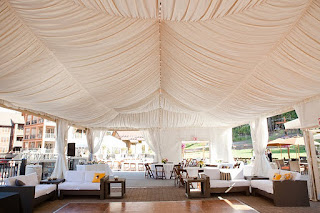 wedding tent draping