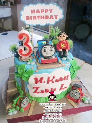 Kue Tart Thomas and Friends Fondant 3D
