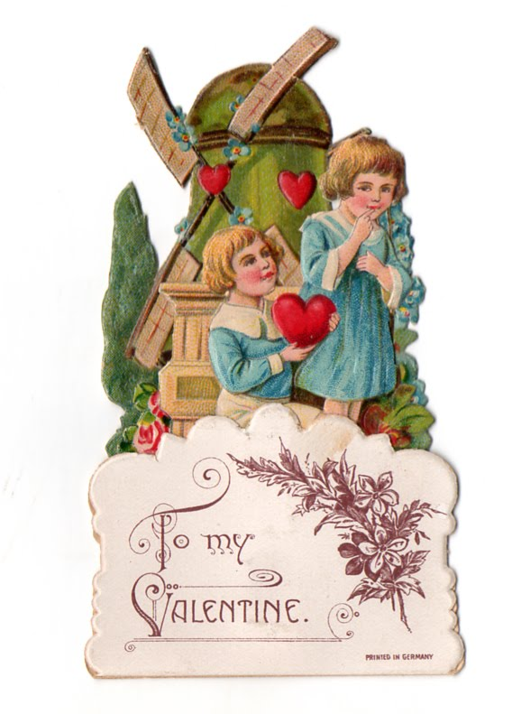 The Vintage Moth Free Vintage Valentine German Made Windmill Card – German Valentines Day Cards