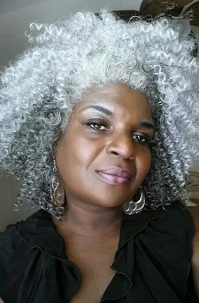 Beautiful silver natural hair