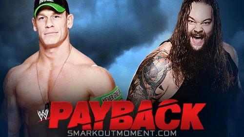 WWE Payback 2014 PPV Last Man Standing Match John Cena vs Bray Wyatt