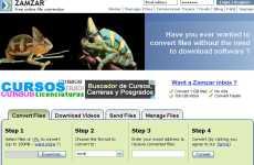 Convertir Rmvb a Avi/flv/mp3/mp4 online: Zamzar