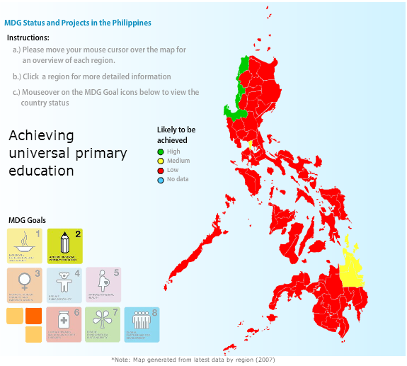 philippines mdg The millennium development goals (mdgs), part of the millennium declaration by 189 countries in september 2000 mdg 4: reduce child mortality by two- thirds between 1990 and 2015 indicator 41: under-five philippine statistics authority 2014 preliminary findings from the 2013 ndhs.