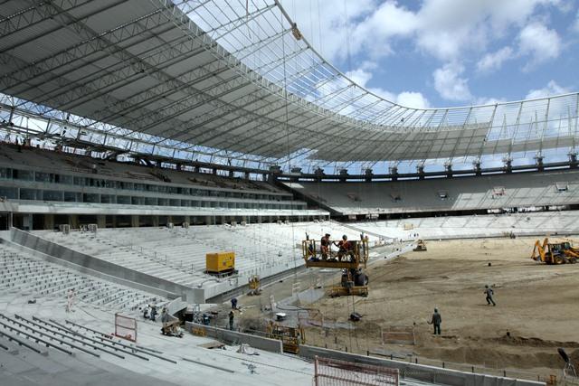 Arena Castelão já está com 93% das obras concluídas