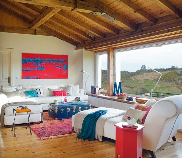 Casa de s tio com decora o colorida e apaixonante - Decoracion rustica y moderna ...