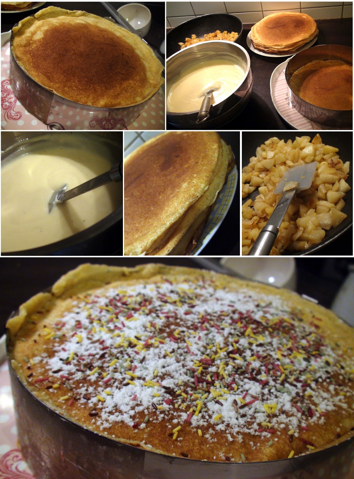 Gateau de crepes pommes caramel beurre sale