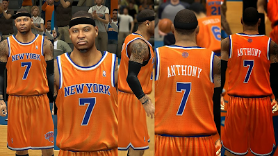 New Knicks Orange Alternate Uniform