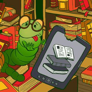 bookworm rejecting e-book reader
