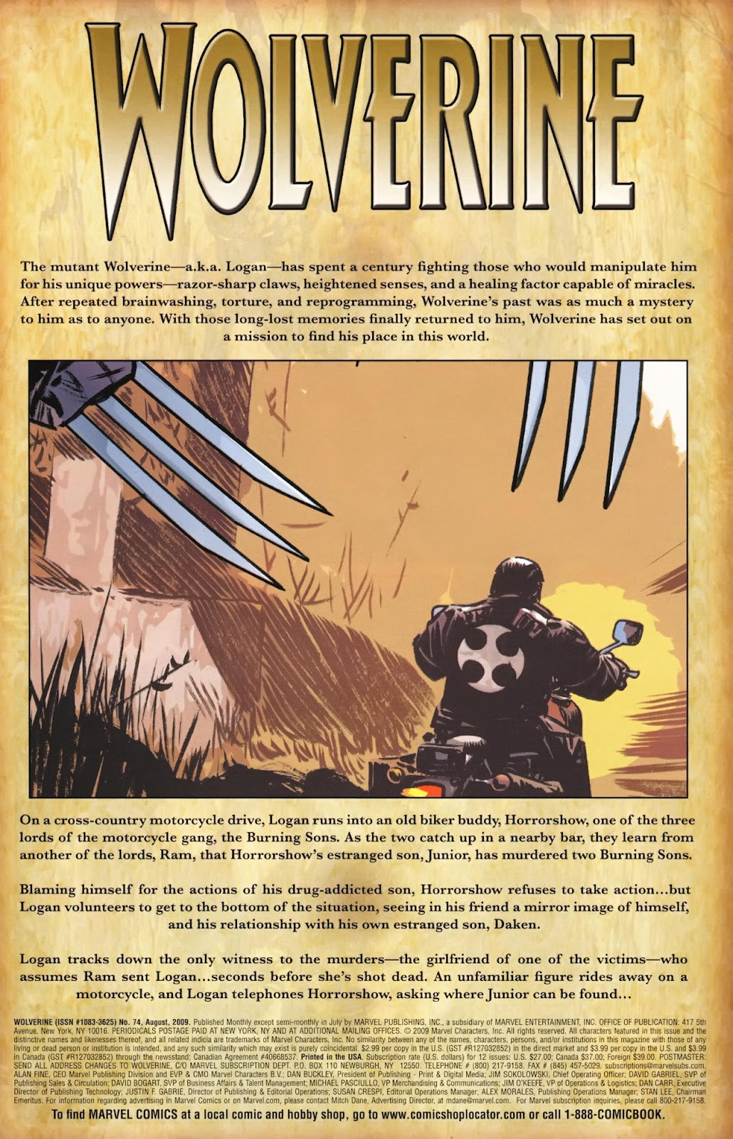 Read online Wolverine (2003) comic -  Issue #74 - 2