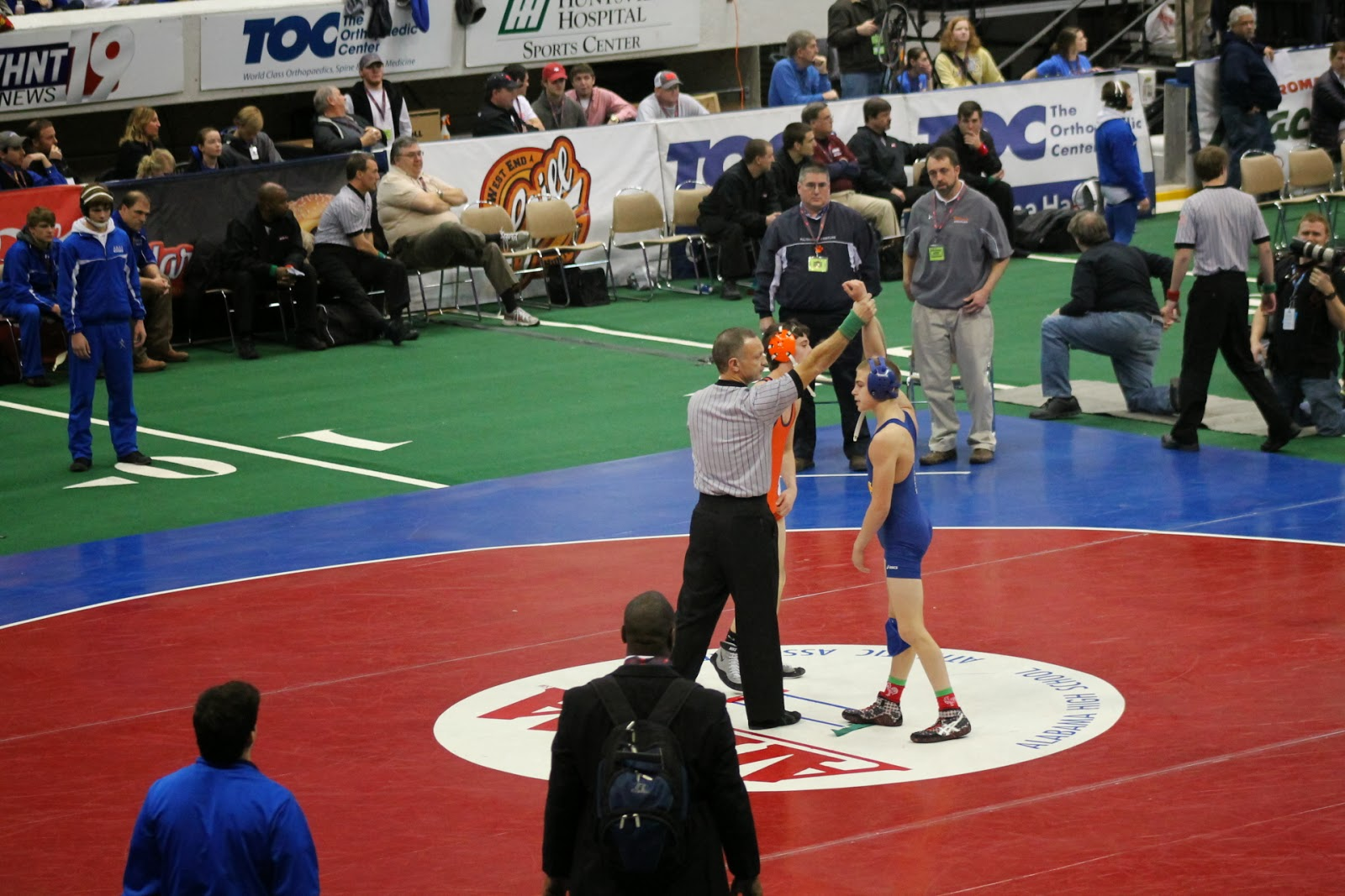 Van Alst Claims Third Consecutive Wrestling State Championship 2