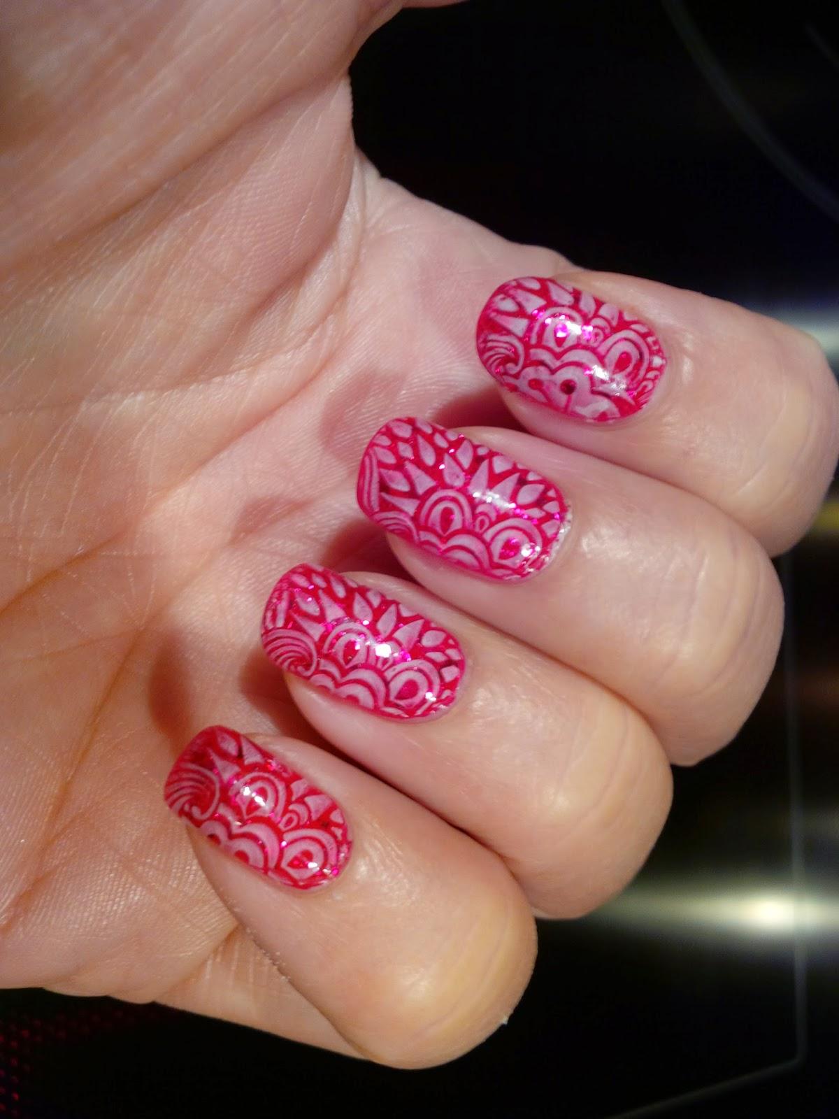 mooie glitter nagellak