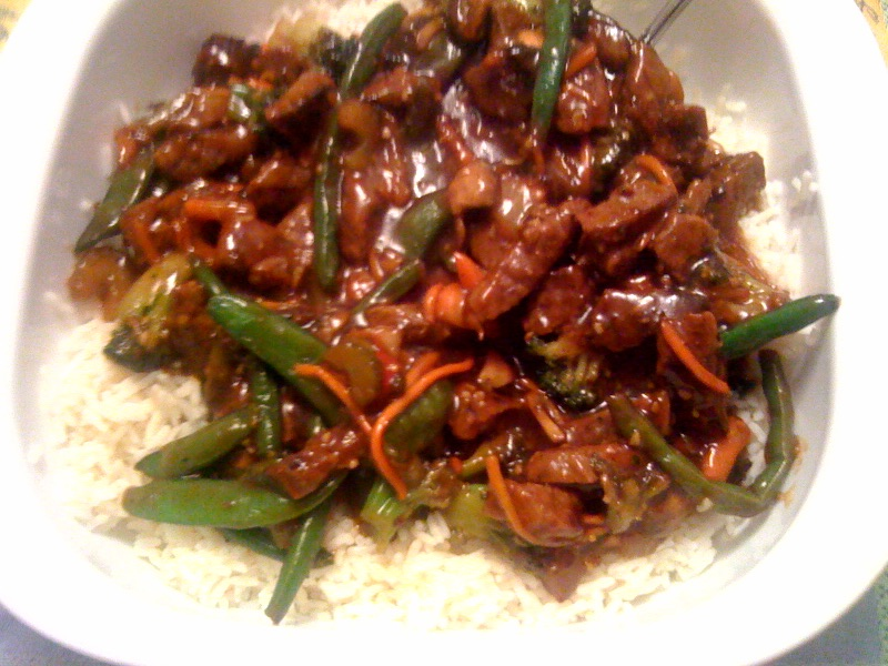 Sweet Tea and Cornbread: Beef Stir Fry with Honey Ginger Sauce!