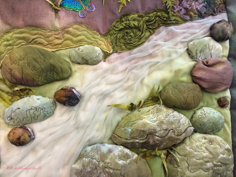 @ Pink Almond Quilt - The Imaginary Stream by Lakkana Jones
