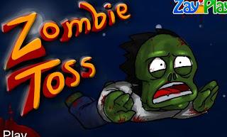 Juegos de jaloguin Zombie toss
