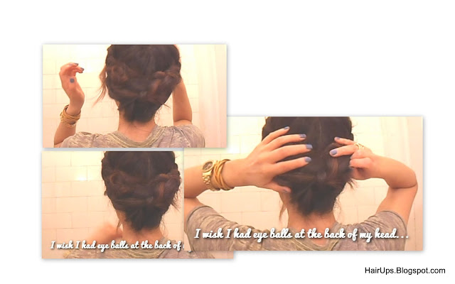Wrap+around4 How to Fishtail Braid Easy Hairstyle Tutorial   Sexy Rock Star Fishtail Side Braid Updo