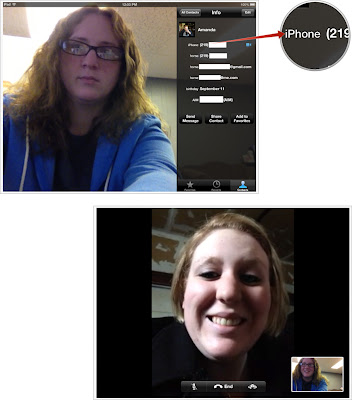 FaceTime call from iPad, iPod touch 2