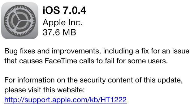 iOS 7.0.4 Firmware