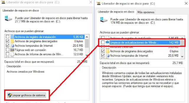 """""""Liberador de espacio en disco"""" (cleanmgr.exe)"""