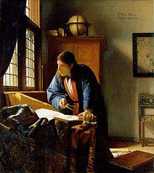 Il geografo (1668-1669), Johannes Vermeer.