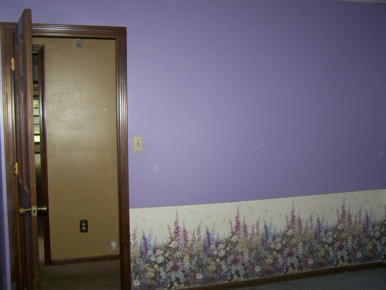 Guest room after wallpaper removal: