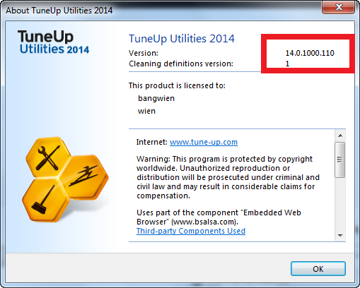 TuneUp Utilities 2014 is a collection of tools for cleaning up, optimising, repairing, customising, and typically getting the maximum attainable overall performance from your Pc