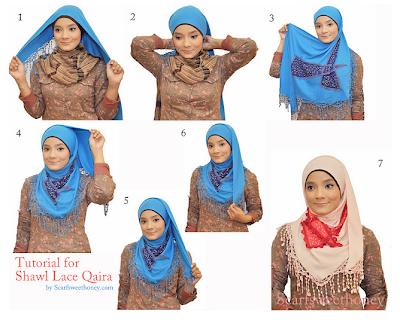 Cara Memakai Jilbab Qaira Style