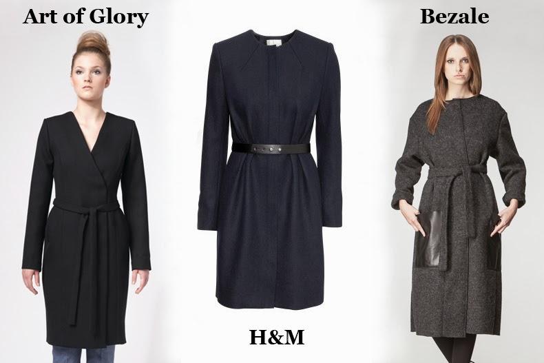 płaszcz z paskiem H&M