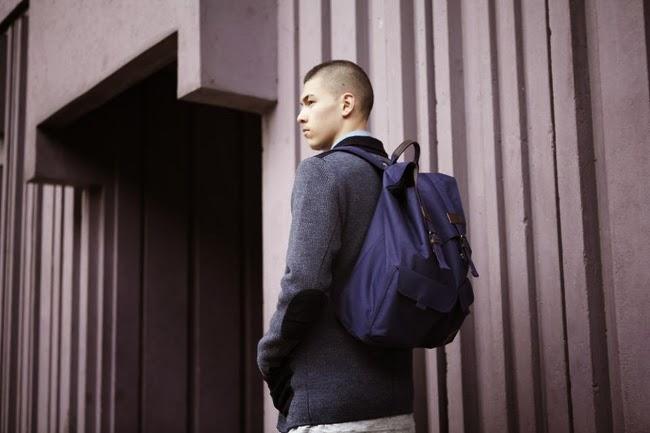 mochila azul marca eastpak temporada otoño 2013