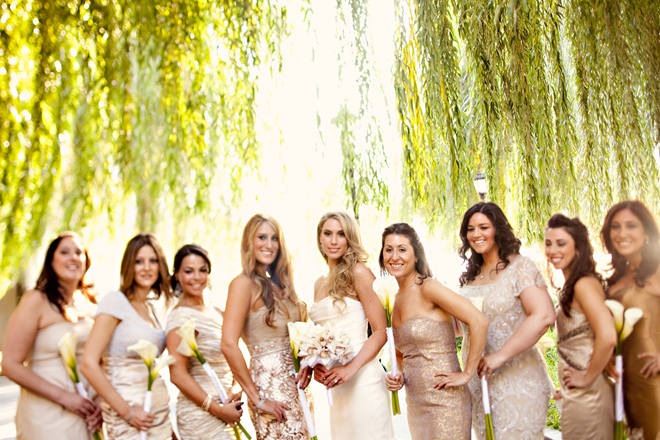 I hope you have a great weekend! I'll be back on Monday with more fabulous  wedding ideas and inspirations. xoxo - Bridesmaids Style} : Sequins And Lace - Belle The Magazine