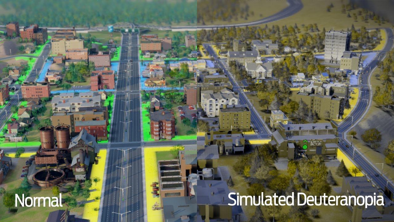 Играть в SimCity смогут даже дальтоники