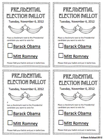 kids printable Election Ballot | just b.CAUSE