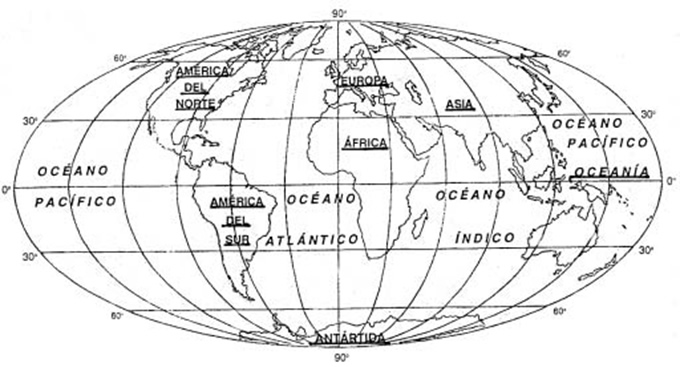 Mapa mundi con nombres sin color  Imagui