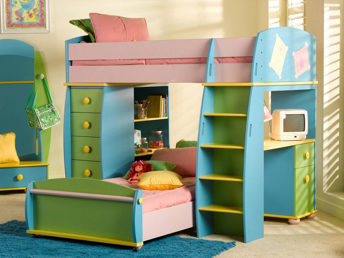 Loft beds kids loft beds Kids loft bed with desk