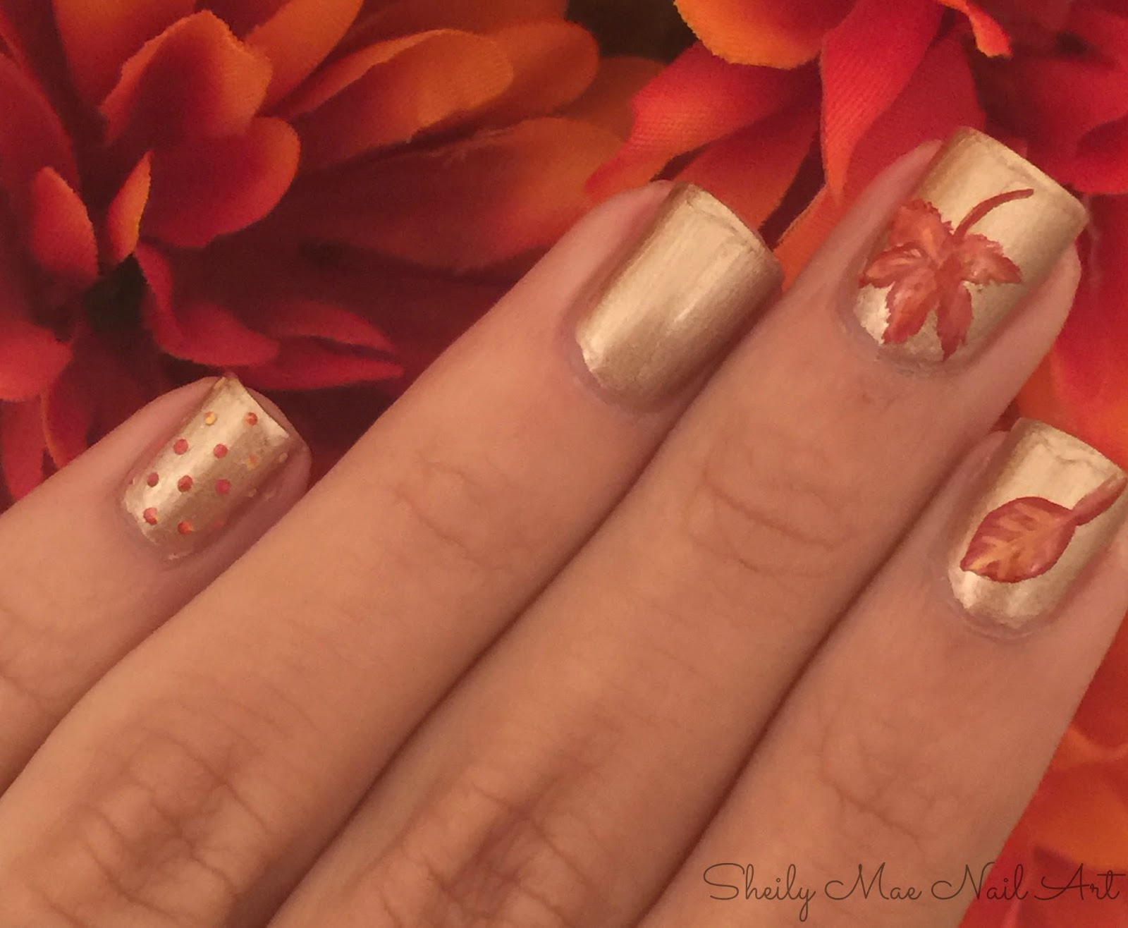 3 Easy Fall Nail Art Designs Sheily Mae Nail Art