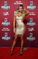 Samantha Hoopes bares cleavage at the 2015 NHL Awards in Las Vegas