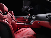 All New Model 2013 Mercedes-Benz SL 350 Edition 1 Roadster Cabriolet Press Official Picture Image Photo Media interior seat leather