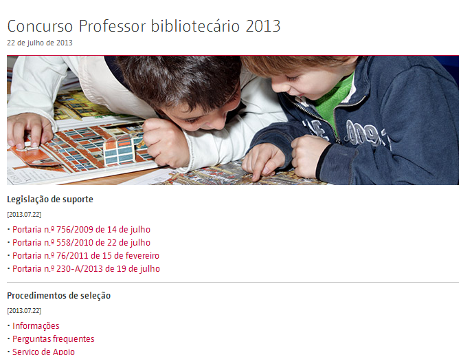 Concurso professor bibliotec rio 2013 for Concurso profesor