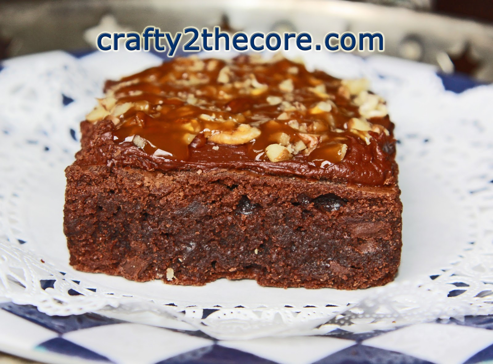 ~TURTLE BROWNIES GALORE~ Layered brownie smothered with melted chocolate and drizzled with caramel and pecans~