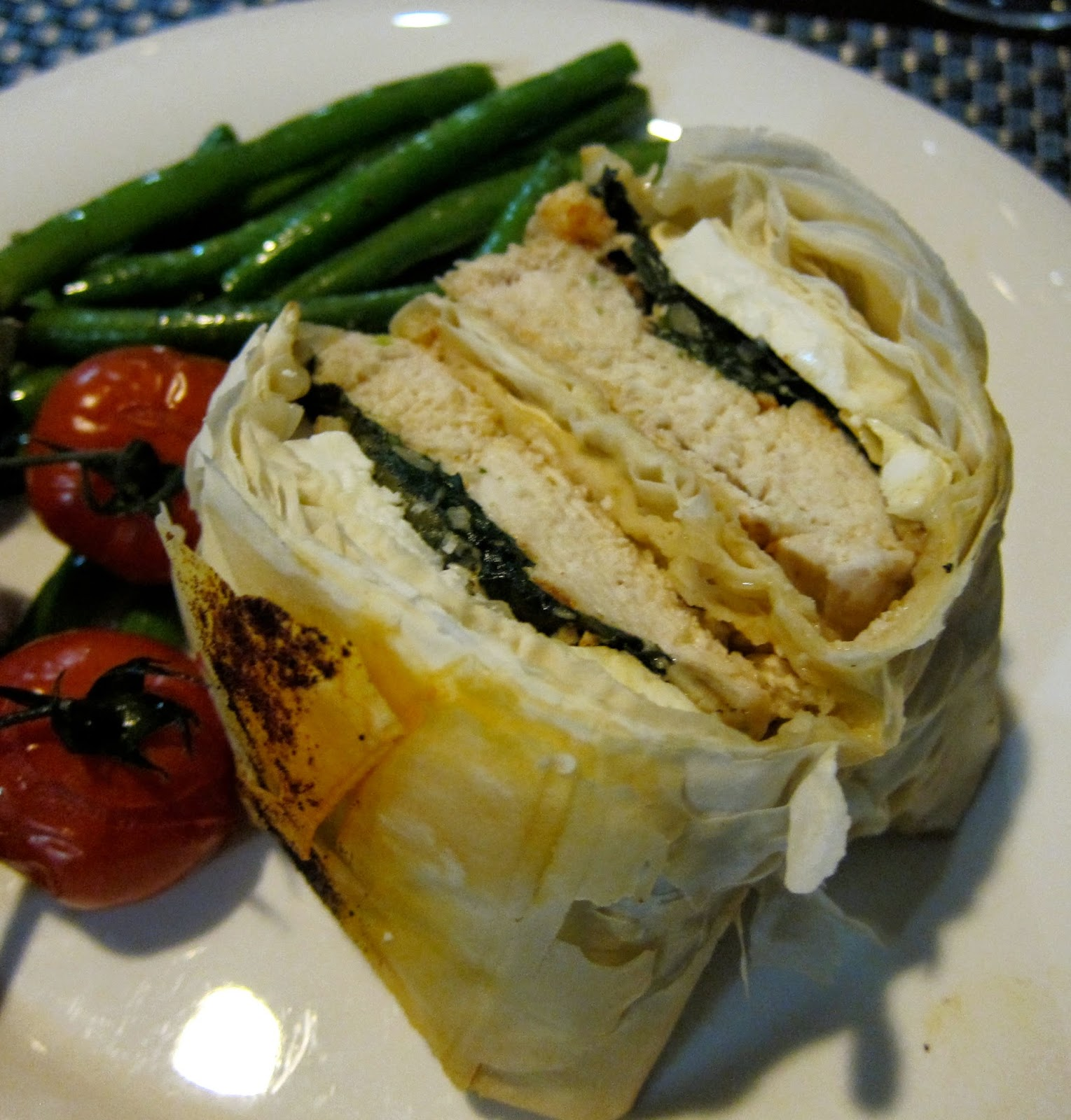 spinach fetta chicken filo parcels recipe