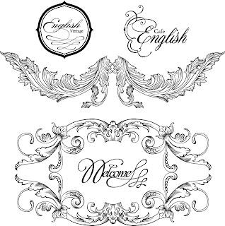 バロック様式のフレーム・ボーダー vintage baroque frames and decorative borders イラスト素材2