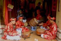 Vietnamese temple drummers