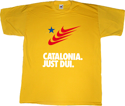 catalan catalonia independence freedom declaració unilateral d'independència dui referendum nike just do it t-shirt ephemeral-t-shirts