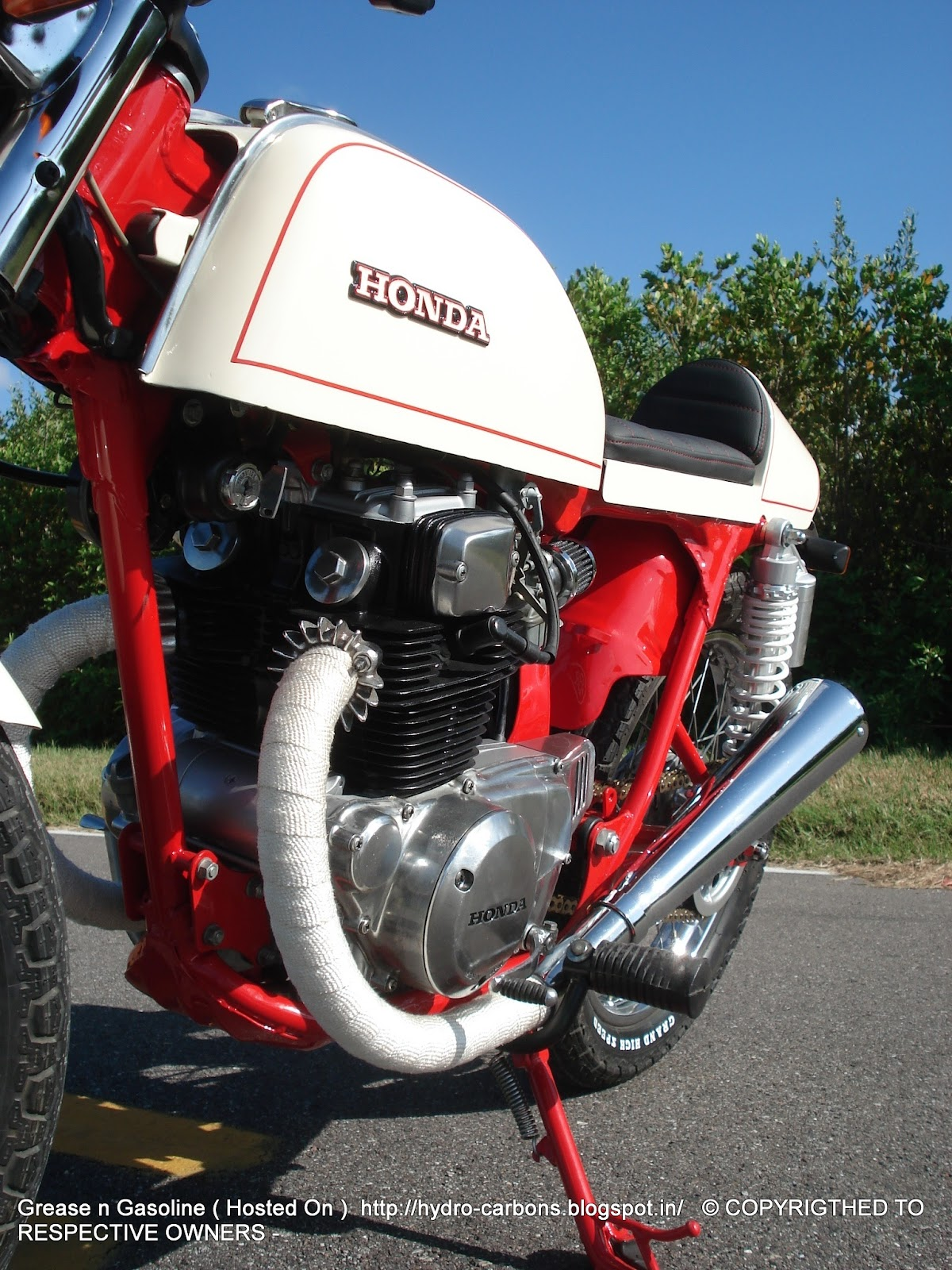 GET FEATURED   1975 Honda CB200T Cafe Racer   Throttle Mag